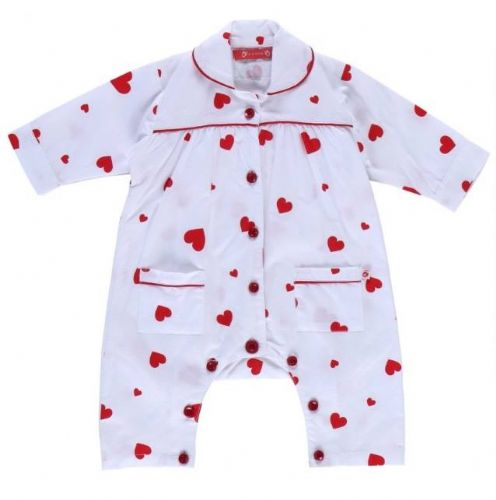 100% Organic Cotton Love Heart Romper